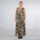 Jaclyn Smith Women's Plus Cross Front Animal Print Maxi Dress at mygofer.com