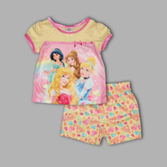 Disney Baby Infant & Toddler Girl's 2 Pc 'Princess' Bow Top & Shorts Set at Kmart.com