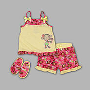 Joe Boxer Toddler Girl's 3 Pc Hula Monkey Tank Top, Shorts and Sandals Set at Kmart.com
