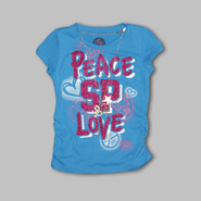 Southpole Girl's Short Sleeve 'Peace Love' Logo Top at Sears.com
