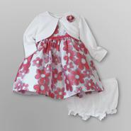 Holiday Editions Infant Girl's Dress, Shrug & Diaper Cover - Floral at Kmart.com