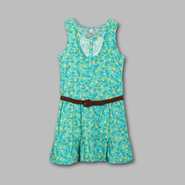 Route 66 Girl's Floral Challis Belted Sleeveless Dress at Kmart.com