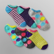 Joe Boxer 6-Pack Women's Low-Cut Socks - Dots & Stripes at Kmart.com