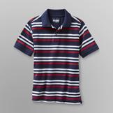Basic Editions Boy's Mesh Polo Shirt - Striped at mygofer.com