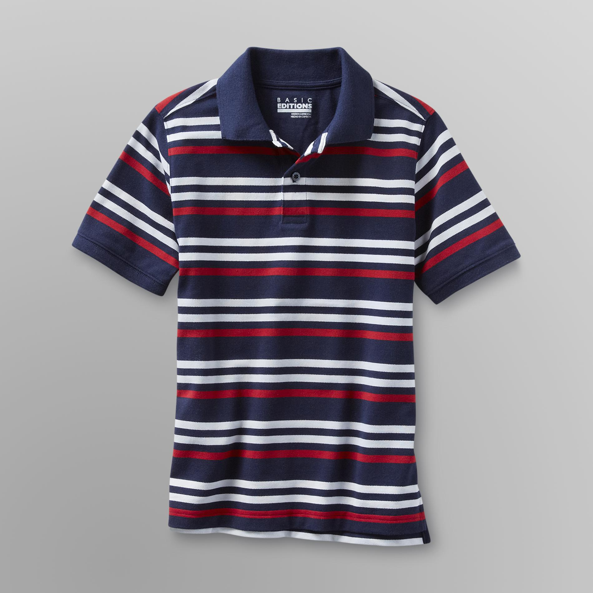 Basic Editions  Boy's Mesh Polo Shirt -