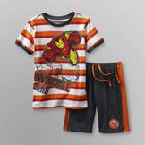 Marvel Iron Man Boy's T-Shirt & Shorts at mygofer.com