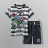 Marvel Boy's T-Shirt & Shorts - Heroes Unite at mygofer.com