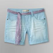 Route 66 Girl's Rolled Cuff Shorts & Belt at Kmart.com