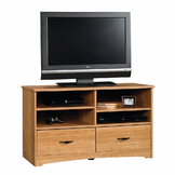 Sauder Beginnings TV Stand - Highland Oak at mygofer.com
