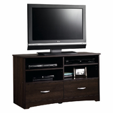 Sauder Beginnings TV Stand - Cinnamon Cherry at mygofer.com
