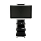Altra Glass & Chrome AltraMount TV Stand at mygofer.com