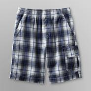 Basic Editions Boy's Cargo Shorts - Plaid at Kmart.com