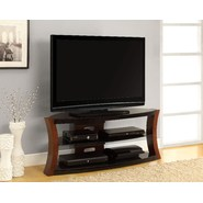 Altra Bentwood and Glass TV Stand at Kmart.com