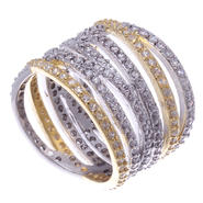 Sofia by Sofia Vergara Ladies Two Tone Cubic Zirconia Ring at Kmart.com