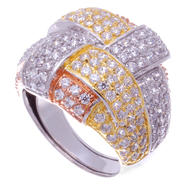 Sofia by Sofia Vergara Ladies Tri Color Cubic Zirconia Ring at Kmart.com