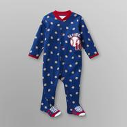 Small Wonders Infant Boy's Footed Pajamas - Baseball Slugger at Kmart.com