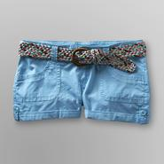 Bongo Junior's Cuffed Poplin Shorts & Belt at Sears.com