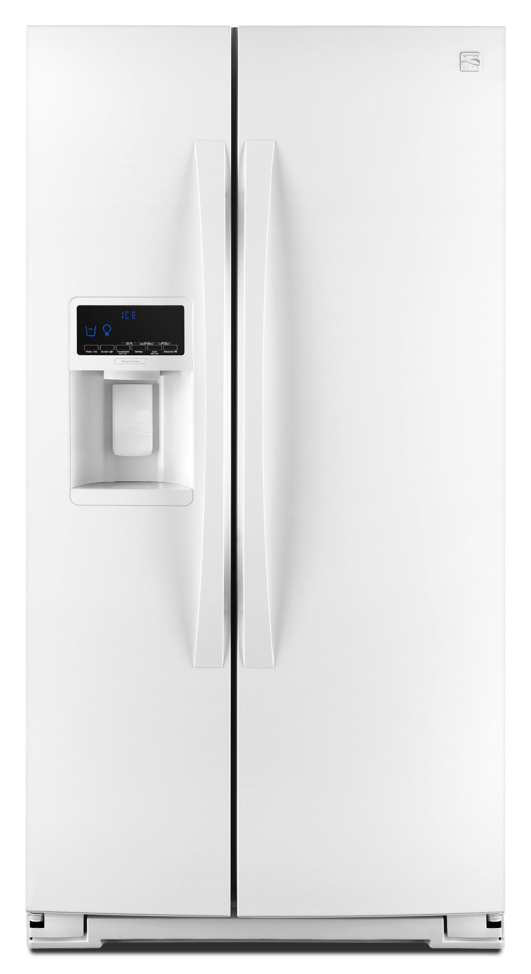 24.5 cu. ft. Counter-Depth Side-by-Side Refrigerator - White