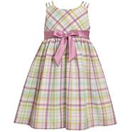 Ashley Ann Toddler Girl's Sleeveless Plaid Taffeta Dress at Sears.com
