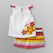 WonderKids Infant & Toddler Girl's Tank Top & Striped Scooter Skirt at Kmart.com
