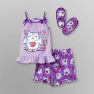 Joe Boxer Toddler Girl's Pajamas & Slippers - Owls at Kmart.com