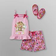 Joe Boxer Toddler Girl's Pajamas & Slippers - Monkey at Kmart.com