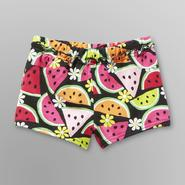 WonderKids Infant & Toddler Girl's French Terry Shorts - Watermelon at Kmart.com