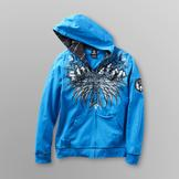 Sinister Young Men's Hoodie Jacket - Cross/Skulls at mygofer.com