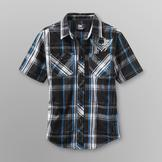SK2 Boy's Button Front Shirt - Plaid at mygofer.com