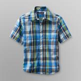 Basic Editions Boy's Button Front Shirt - Plaid at mygofer.com
