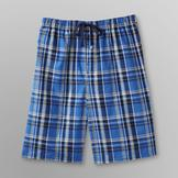 Basic Editions Men's Poplin Pajama Shorts - Plaid at mygofer.com