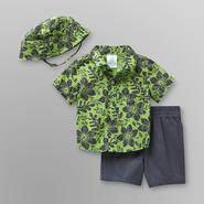 Small Wonders Infant Boy's Hawaiian Shirt, Shorts & Hat at Kmart.com