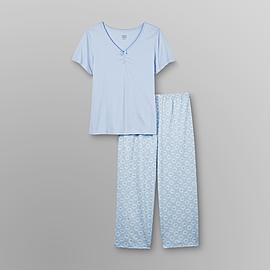 Pink K Women's Plus Pajama Shirt & Capris at Kmart.com