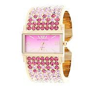 Sofia by Sofia Vergara Ladies Pink Gradient and Gold Cuff Watch w/ Rectangular Pink Dial at Kmart.com