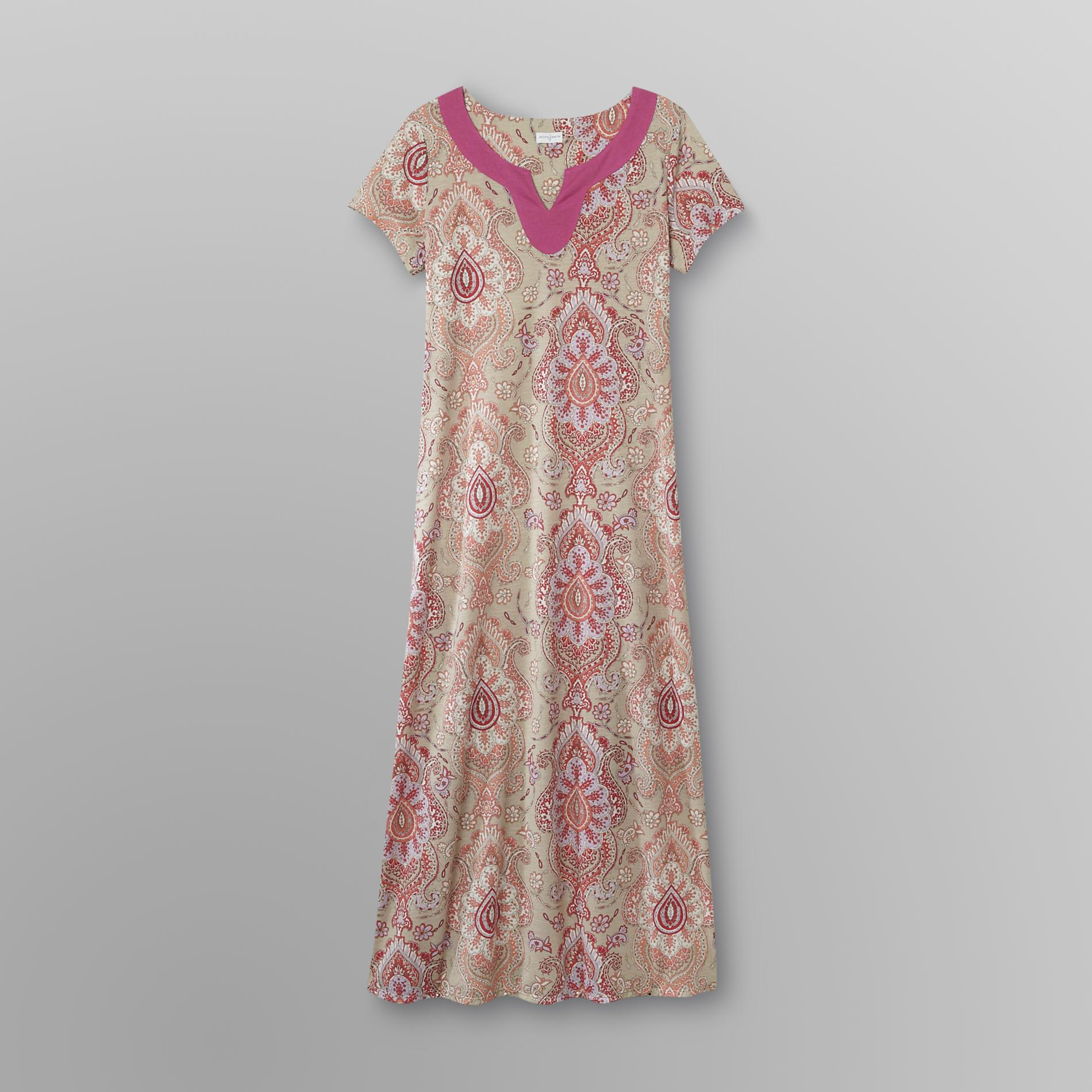 Jaclyn Smith Women's Knit Maxi Caftan - Paisley at Kmart.com