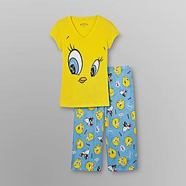 Warner Brothers Tweety Bird Women's Pajamas - Capri at Kmart.com