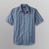 David Taylor Men's Big & Tall Short-Sleeve Shirt - Plaid Microfiber at mygofer.com