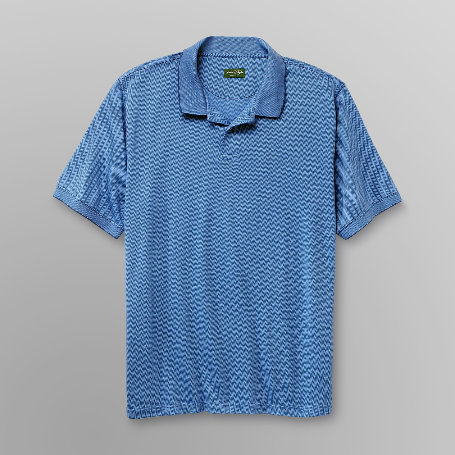 David Taylor Men's Big & Tall Jacquard Polo Shirt - Herringbone at Kmart.com