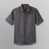 David Taylor Men's Short-Sleeve Shirt - Plaid Microfiber at mygofer.com