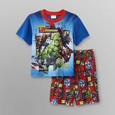 Marvel Avengers Boy's T-Shirt & Pajama Shorts at mygofer.com