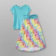 Piper Girl's Skirt-Dress Set - Flowers & Butterflies at Kmart.com