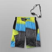 Joe Boxer Boy's Board Shorts & Goggles - Highlander at Kmart.com