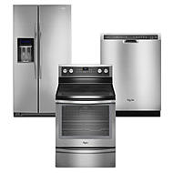 Whirlpool 3-piece Kitchen Suite in Stainless Steel   ...