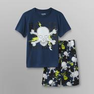 Joe Boxer Boy's 2 Pc 'Lightning Skull' Top & Shorts Sleepwear Set at Kmart.com