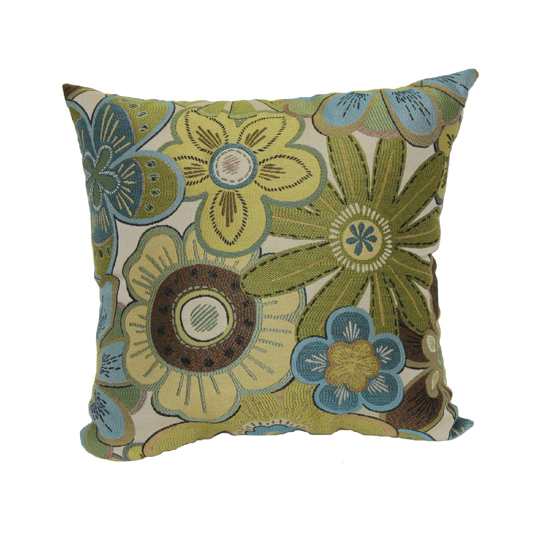 Decorative Pillows Kmart : Essential Home Siobhan Floral Pillow - Lime - Home - Bed & Bath - Bedding - Decorative Pillows ...
