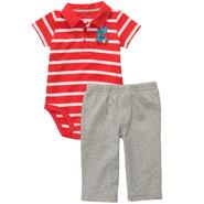 Carter's Infant & Toddler Boy's 2 Pc 'Mommy's Property' Striped Polo & Pants Set at Sears.com