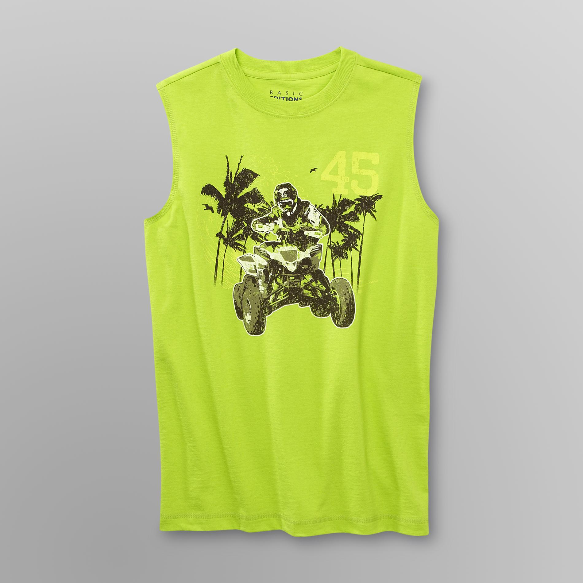 Boy's Graphic Muscle Shirt - Motocross