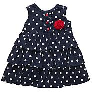 Carter's Infant Girl's 2 Pc Polka Dot Ruffle Dress & Bloomer Set at Sears.com