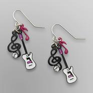 Front Row Girl's Guitar Drop Earrings at Kmart.com