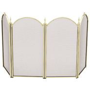 "UniFlame 4 Fold 25"" H Mini Polished Brass Screen at Kmart.com"